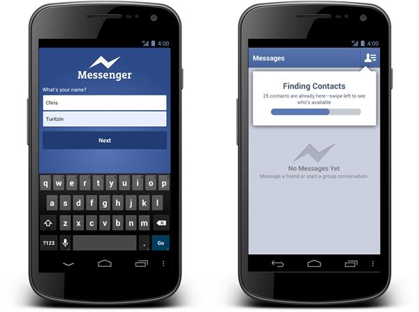 Der Facebook-Messenger für Android (Bild: Facebook)