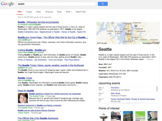 Google Knowledge Graph (Screenshot: Golem.de)