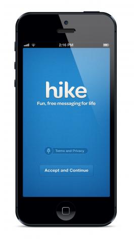 Der Startbildschirm von Hike (Bilder: get.hike.in)