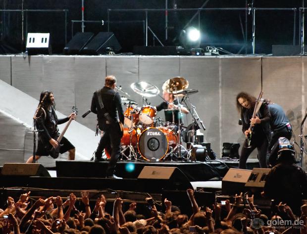 Metallica beim Getafe Electric Festival 2008 (Bild: Nico Ernst)