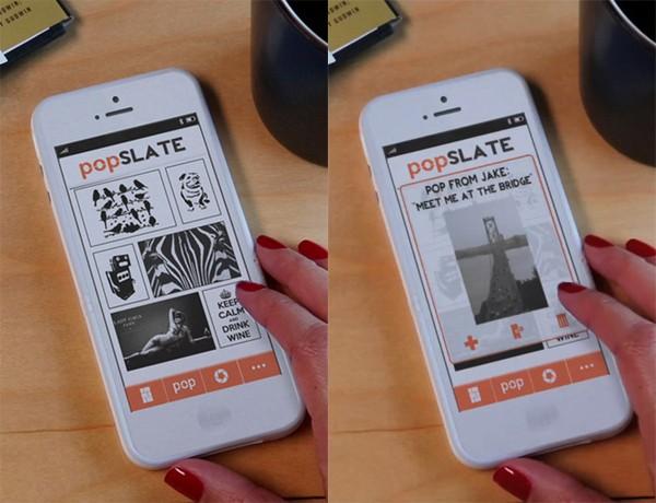Popslate-App zum Füllen des E-Ink-Displays (Bild: Indiegogo)