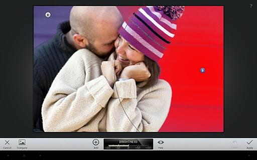Snapseed für Android unterscheidet sich praktisch nicht von der iOS-Version. (Bild: Google)