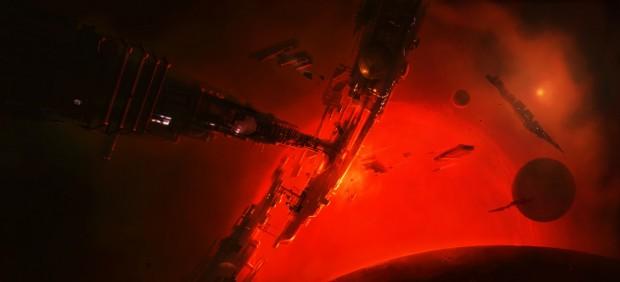 Roter Gigant - ein neues Konzeptbild zu Elite: Dangerous (Bild: Frontier)
