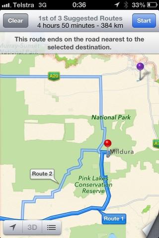 Apples Karten-App und iPhones mit iOS 6 schicken Menschen mitten in die Wüste eines Nationalparks. (Bild: Polizei Mildura)