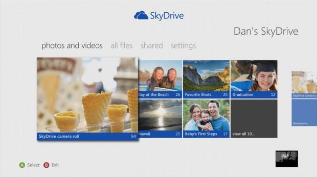 Skydrive auf der Xbox 360 (Bild: Microsoft)