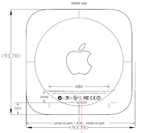 Apple TV A1469 (Bild: FCC)