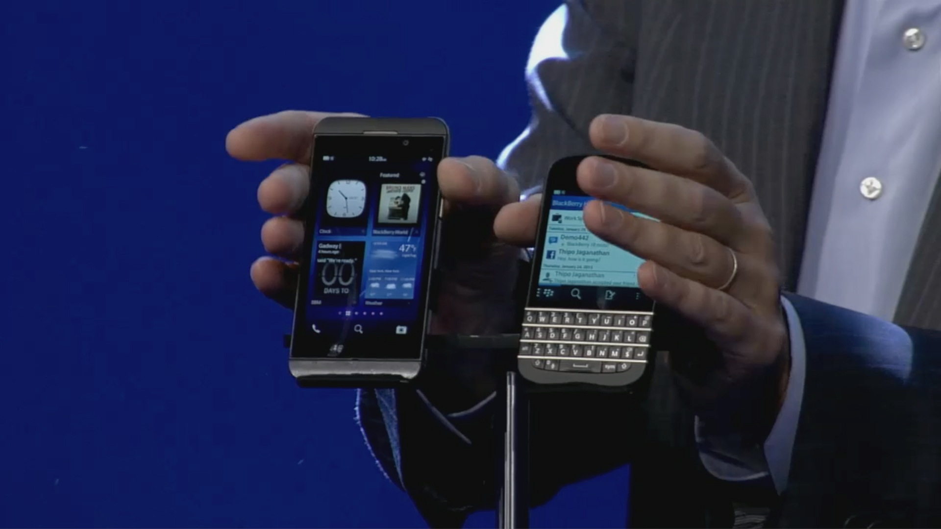 Blackberry Z10 und Q10: Erste Smartphones mit Blackberry 10 vorgestellt - Blackberry stellt Z10 und Q10 vor (Quelle: Blackberry / Screenshot: Golem.de)