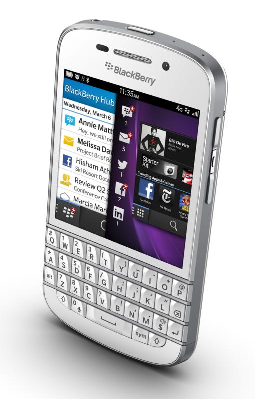 Blackberry Z10 und Q10: Erste Smartphones mit Blackberry 10 vorgestellt - Blackberry Q10 (Quelle: Blackberry)