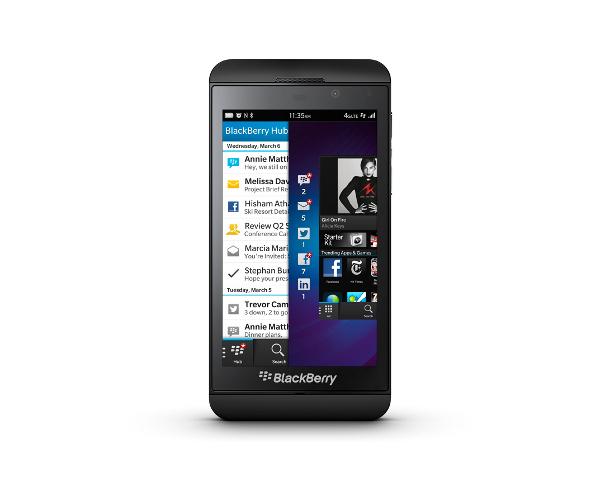 Blackberry Z10 und Q10: Erste Smartphones mit Blackberry 10 vorgestellt - Blackberry Z10 (Quelle: Blackberry)