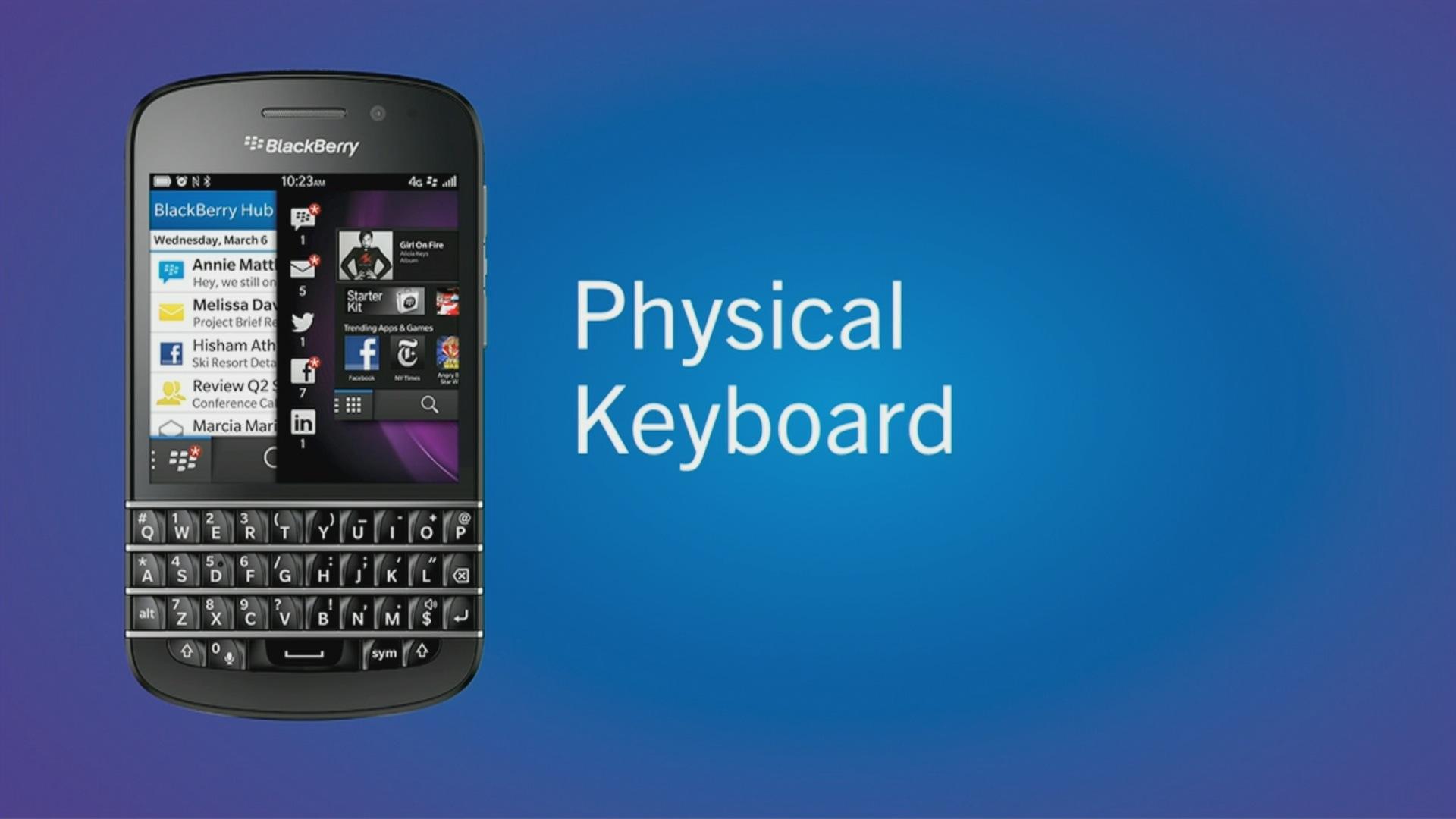 Blackberry Z10 und Q10: Erste Smartphones mit Blackberry 10 vorgestellt - Blackberry Q10 (Quelle: Blackberry / Screenshot: Golem.de)
