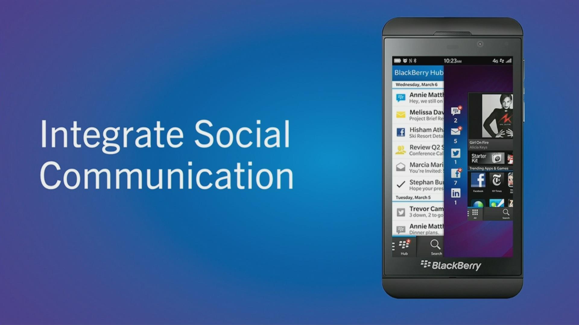 Blackberry Z10 und Q10: Erste Smartphones mit Blackberry 10 vorgestellt - Blackberry Z10 (Quelle: Blackberry / Screenshot: Golem.de)