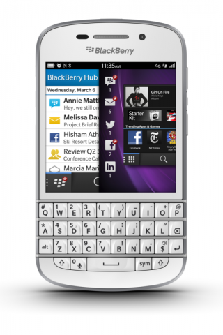 Blackberry Q10 (Quelle: Blackberry)
