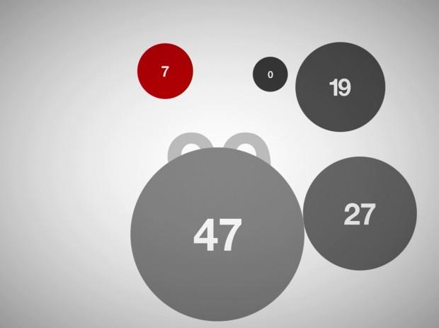 Glücksscreenshot: Wir rechnen zusammen und haben die Millisekunde getroffen, in der das Spiel von 99 auf 100 springt.