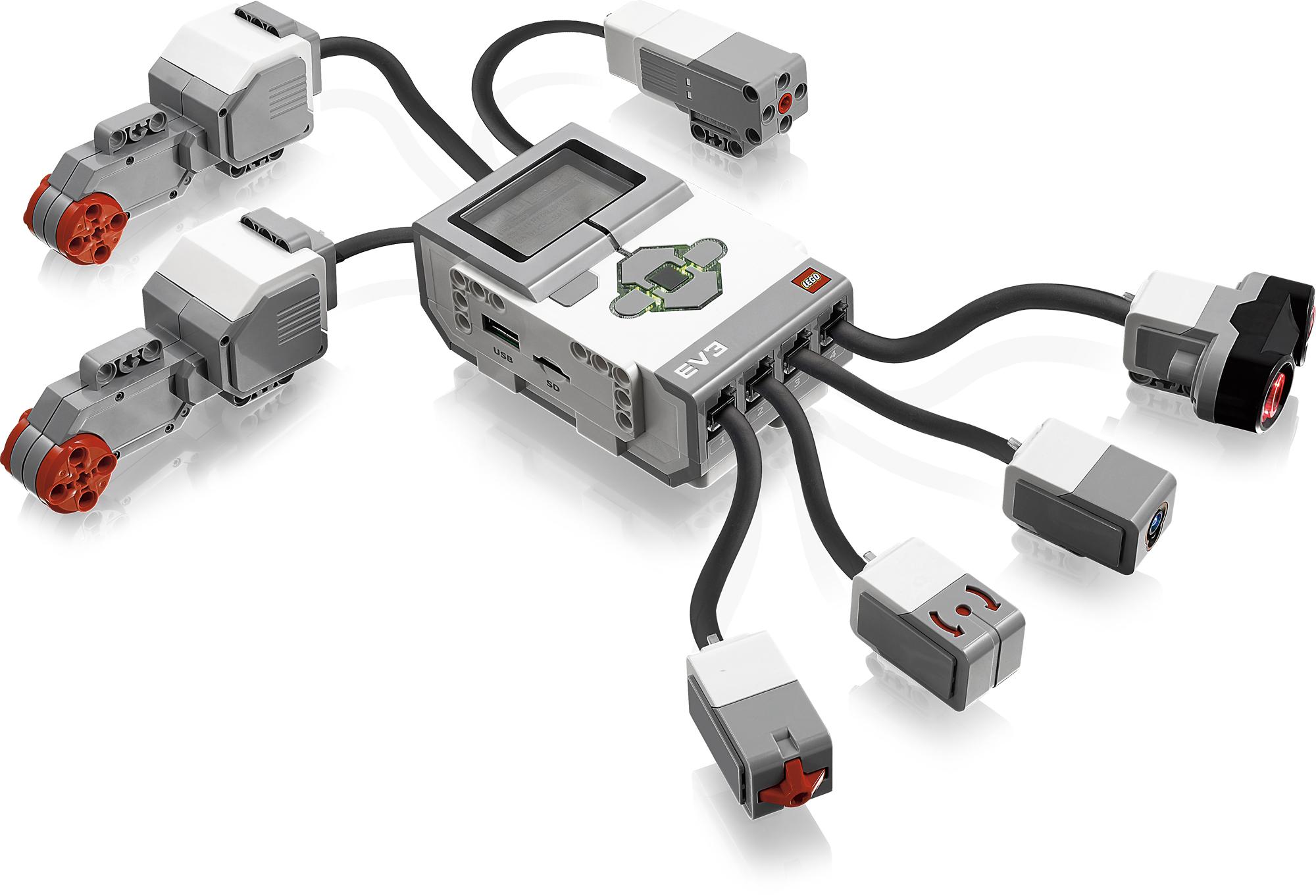 Lego Mindstorms EV3: Neue Roboterplattform von Lego - Lego Mindstorms EV3: P-Brick mit Sensoren