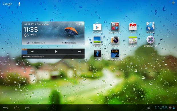 Die Benutzeroberfläche des Mediapad 10 FHD (Screenshot: Golem.de)