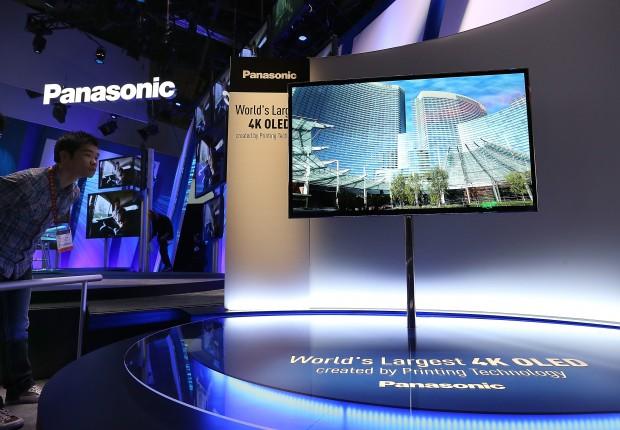 Panasonics 56-Zoll-OLED mit 4K-Auflösung (Bild: Justin Sullivan/Getty Images)
