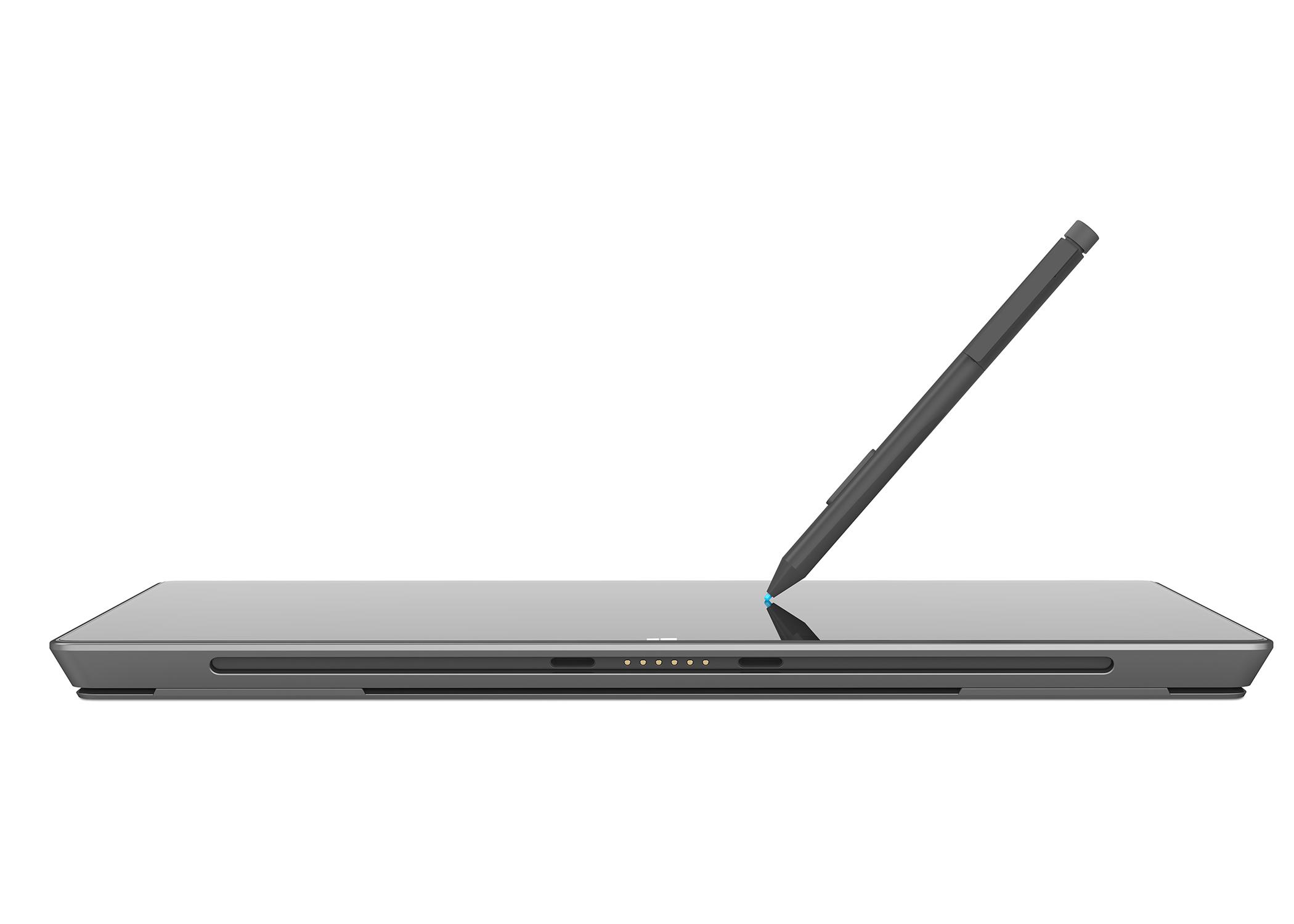 Microsoft-Tablet: Surface Pro mit nur 23 GByte freiem Speicher - Microsoft Surface Pro mit dem Stylus (Bild: Microsoft)
