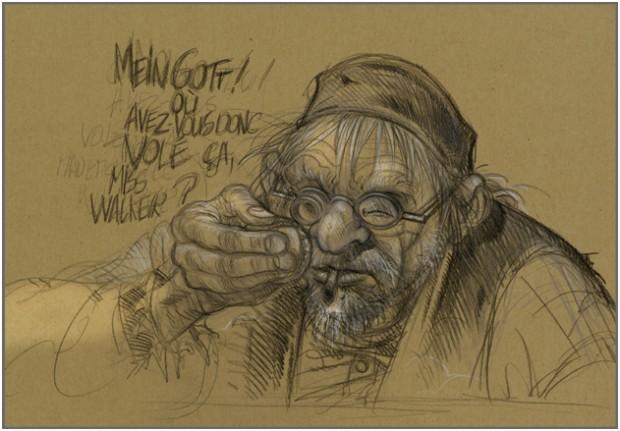 Von Benoit Sokal gezeichnete  Skizze zu Syberia 3 (Bild: Anuman Interactive)