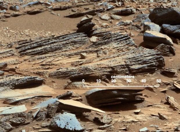 Bilder von Yellowknife: Sedimentgestein... (Foto: Nasa/JPL-Caltech/MSSS)