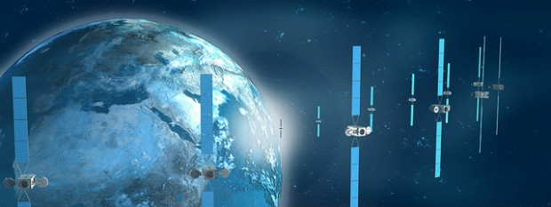 Eutelsats Satellitenflotte - Eutelsat 10A liefert nun auch einen 4K-Testkanal. (Bild: Eutelsat)