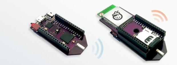 Pinocchio - ohne und mit Wifi-Shield (Bild: Bean Labs)
