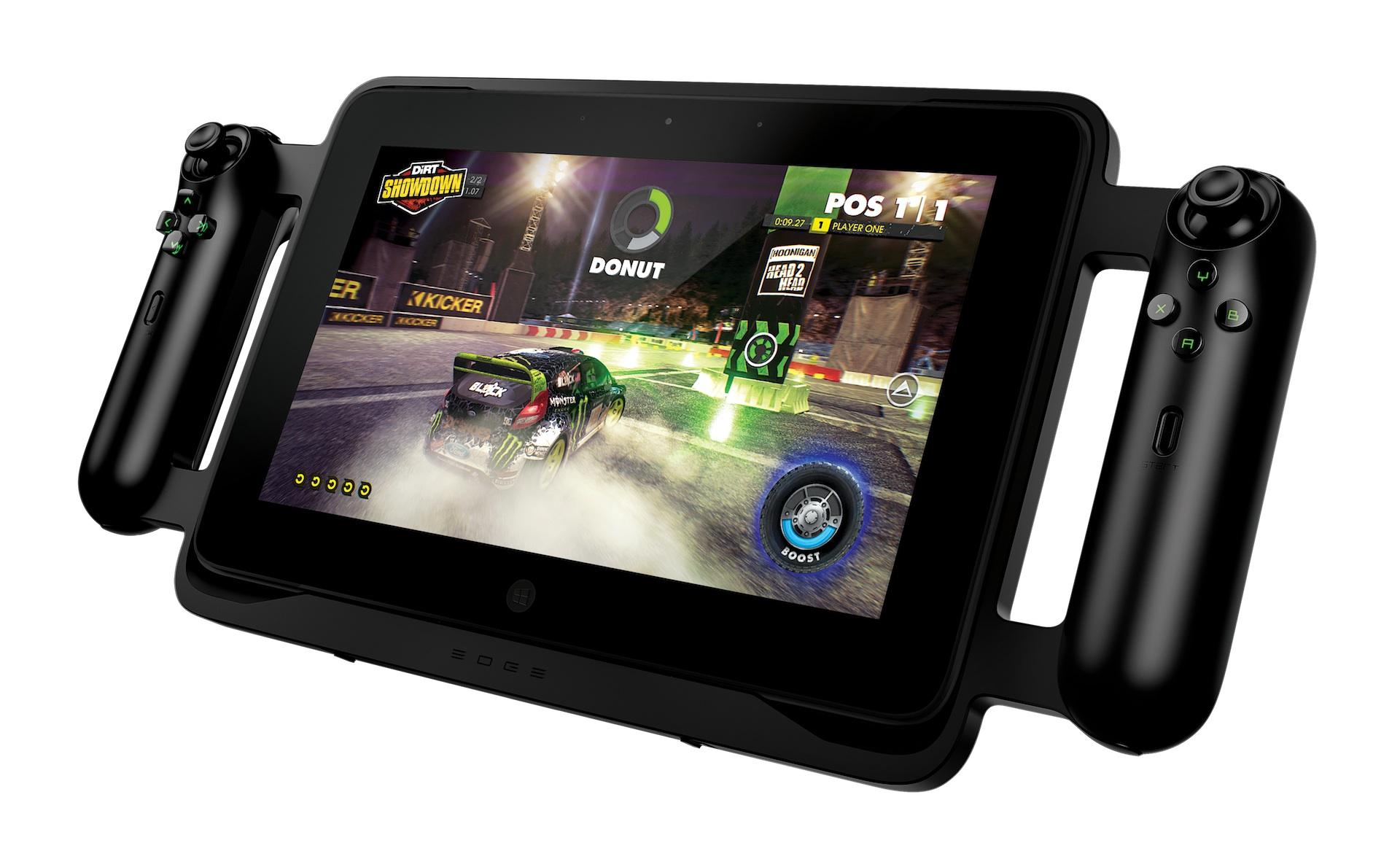 Razer Edge: Gaming-Tablet mit Controller, Keyboard und Dock angespielt - Razer Edge - PC-Spieletablet mit Windows 8, Touchscreen und optionalem Conroller-Rahmen (Bild: Razer)