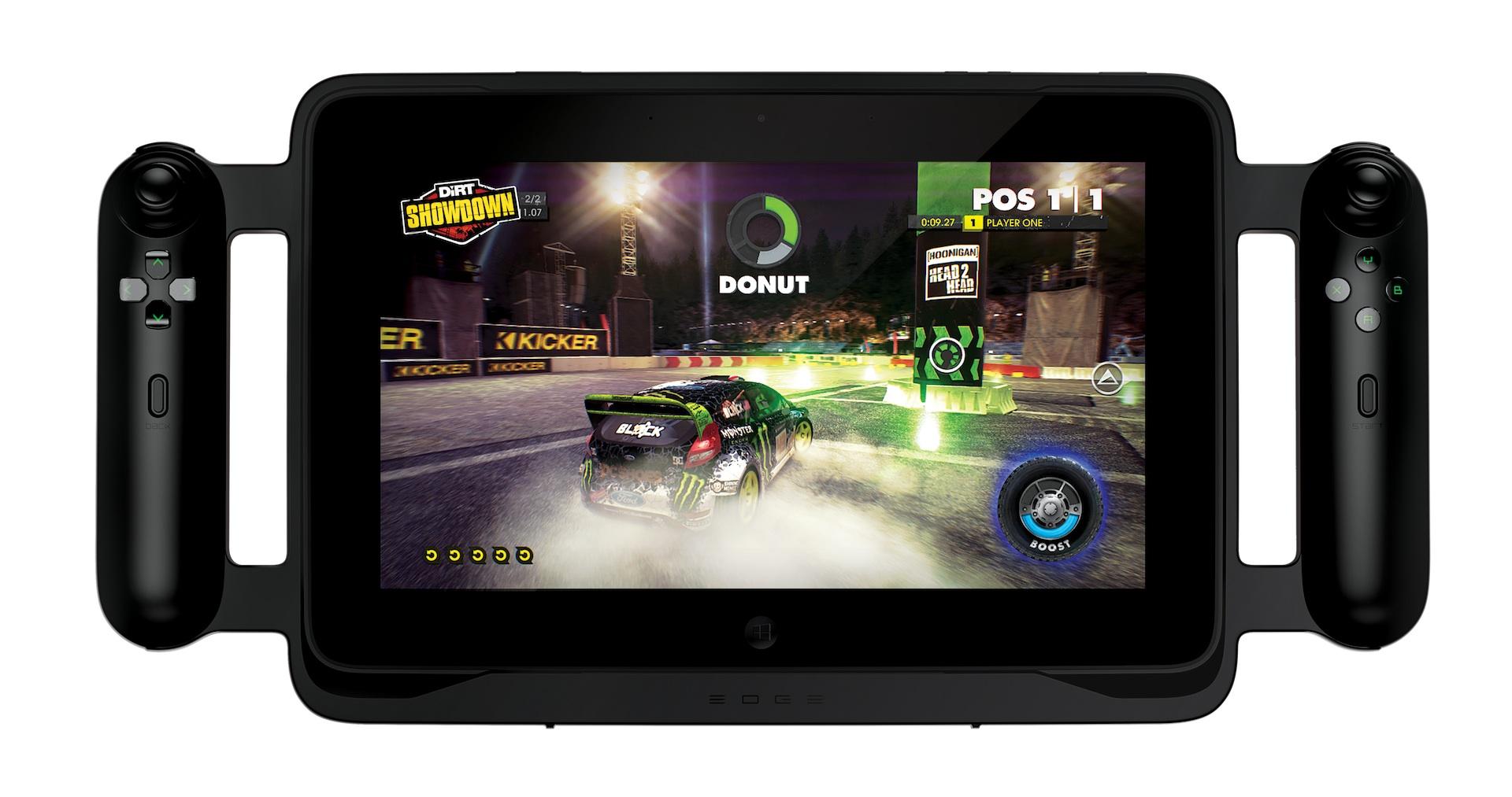 Razer Edge: Gaming-Tablet mit Controller, Keyboard und Dock angespielt - Razer Edge - mit Controller-Rahmen (Bild: Razer)