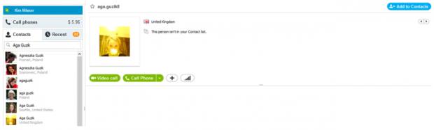 Skype 6.1 für Windows - neue Kontakte werden nun direkt bei einer Suche bei den bestehenden Kontakten angezeigt. (Bild: Skype)