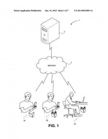 Patentantrag 20130031009 (Bild: US-Patent- und Markenamt)