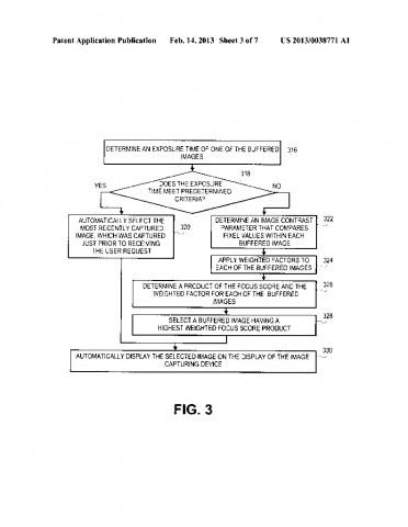 Patentantrag 20130038771 (Bild: US-Patent-  und Markenamt)