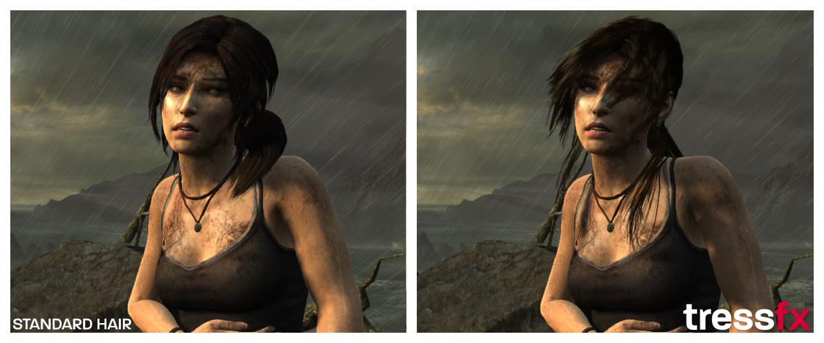 Tressfx in Tomb Raider: AMD macht Lara Croft die Haare schön - ... welche die Wetterbedingungen sofort erkennbar machen.