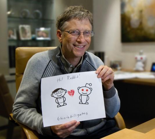 Der Fotobeweis belegt, dass hinter Bill Gates auf Reddit auch wirklich Bill Gates steckt.