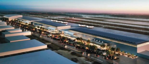 Googles geplantes Flughafenterminal (Bild: flysanjose.com)
