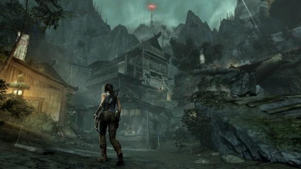 Der Turm mit dem roten Licht ganz oben ist das Ziel...