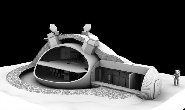 Blick in ein Mondhaus, das das britische Architekturbüro Foster+Partners entworfen hat. (Bild: Foster+Partners)