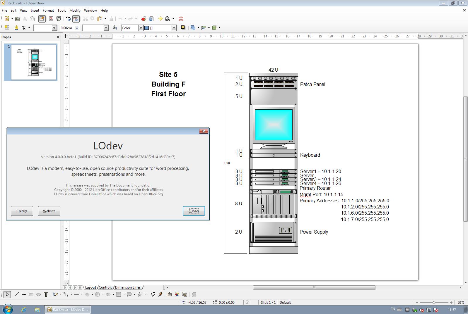 Freie Büroanwendung: Libreoffice 4.0 freigegeben - Der Import von Visio-Dateien... (Bild: Libreoffice)