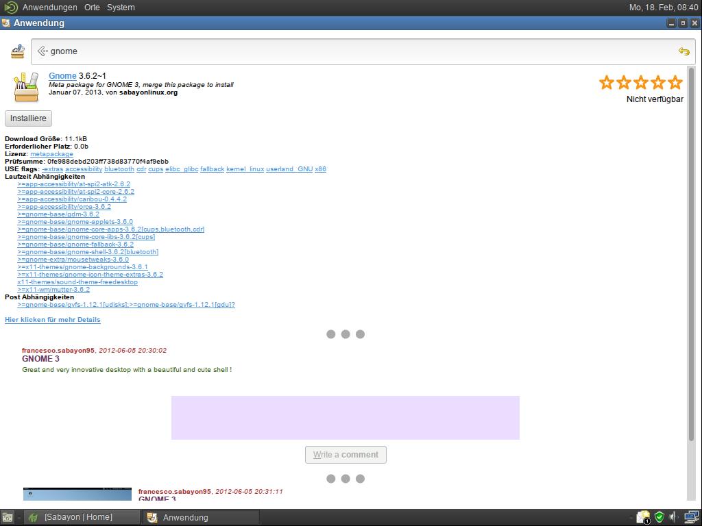 Linux-Distribution: Sabayon 11 mit Steam - Sabayon 11 (Screenshot: Golem.de)