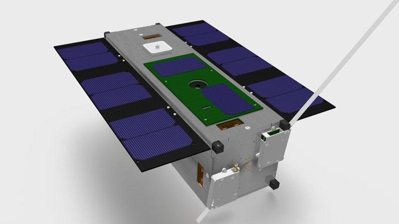 Phonesat: Strand-1 telefoniert mit Android nach Hause - Konzeptzeichnung des Kleinsatelliten (Grafik: SSTL)