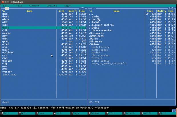 Ubuntu Touch hat die klassische Unix-Verzeichnisstruktur samt Home-Verzeichnis.