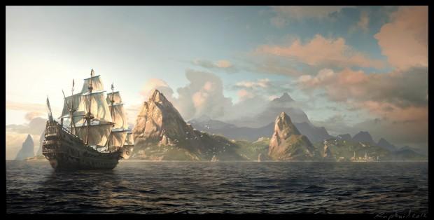 Konzeptzeichnung Assassin's Creed 4
