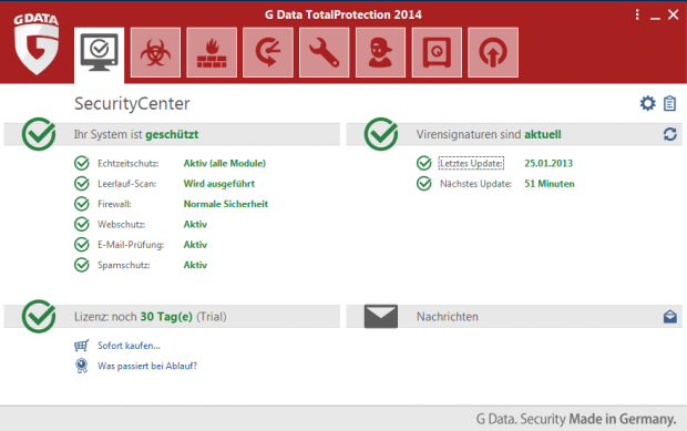 Total Protection 2014 (Bild: G Data)