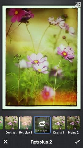 Bildbearbeitung in iOS-App von Google Plus (Bild: Google)
