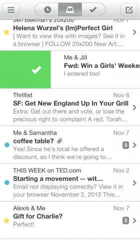 Mailbox-App für iOS (Bild: Dropbox)