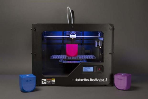 Ouya-Gehäuseteil wird gedruckt. (Bild: Makerbot)