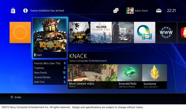 Benutzeroberfläche Playstation 4 (Bilder: Sony)