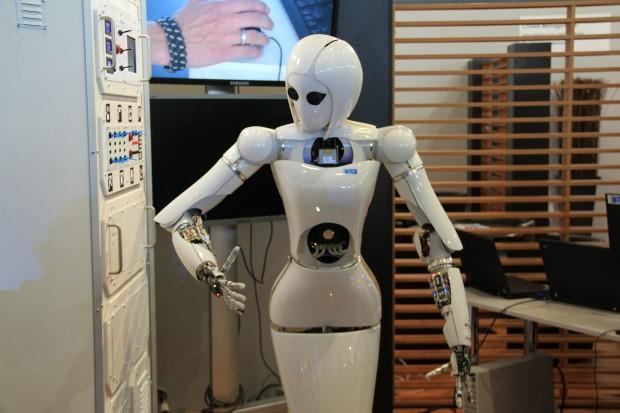 Die Roboterdame Aila des DFKI (Foto: Werner Pluta/Golem.de)