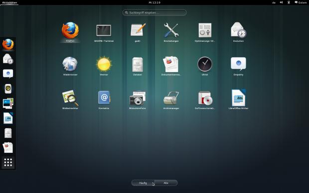 Häufig verwendete Anwendungen in der Gnome-Shell