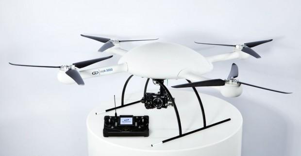 Microdrone MD4-3000 ist der bislang größte Quadrocopter von Microdrones. (Foto: Microdrones)
