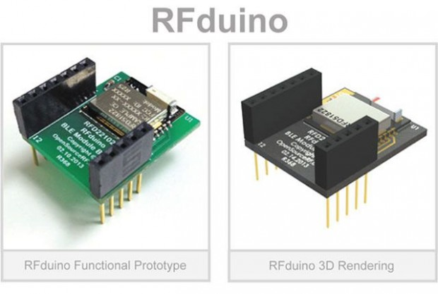 Das Board RFduino (Foto: Open Source RF)