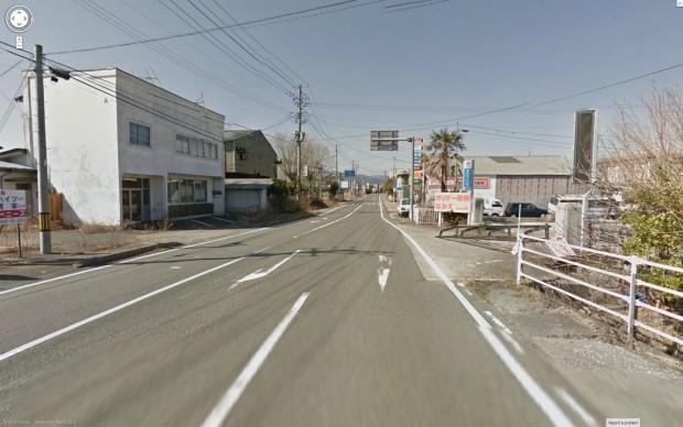 Das Stadtzentrum Namies liegt ein Stück landeinwärts... (Bild: Google/Screenshot: Golem.de)